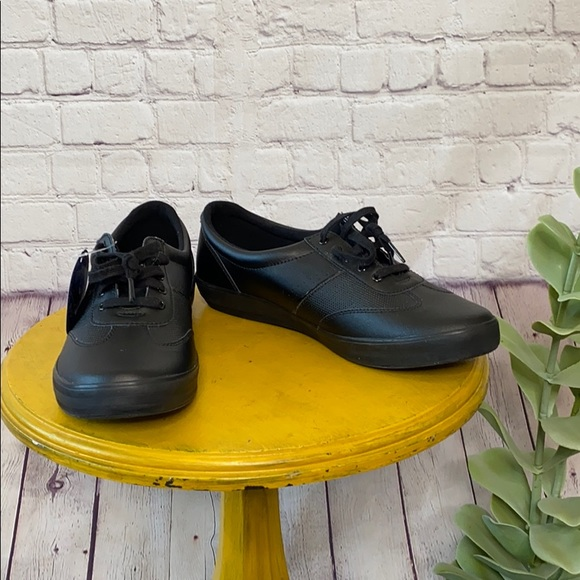 Keds Ortholite black leather sneakers rubber